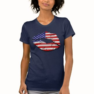 American Lips Tee Shirts