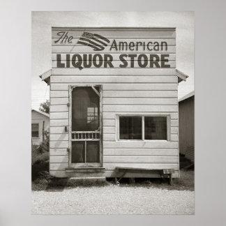 American Liquor Store, 1943. Vintage Photo Poster