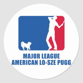 American Lo-Sze Pugg Round Sticker
