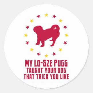 American Lo-Sze Pugg Round Stickers
