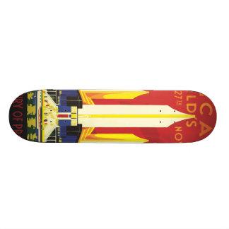 American logo travel poster skateboard deck