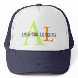 American Longhair Monogram Design Trucker Hat