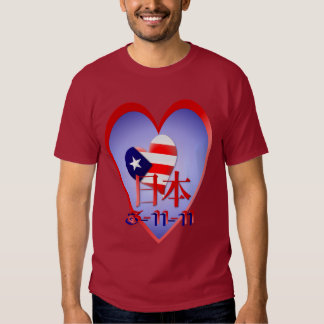 American Love and Support For Japan (date) Shirt