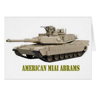 AMERICAN M1A1 ABRAMS  TANK CARD