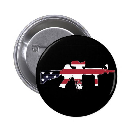American M4 Pinback Buttons