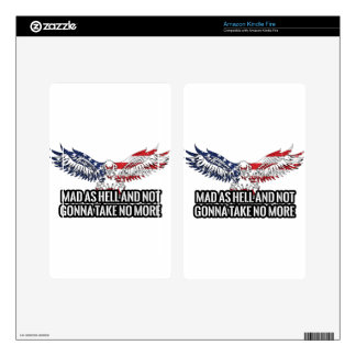 American - Mad As Hell And Not Gonna Take No More Kindle Fire Decals