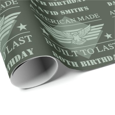 American Made 80th Birthday Wrapping Paper
