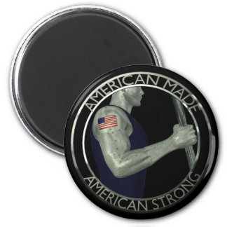 American Made American Strong 2 Inch Round Magnet