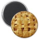 American Made Apple Pie Zig Zag Crust 2 Inch Round Magnet