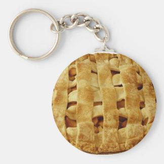 American Made Apple Pie Zig Zag Crust Basic Round Button Keychain