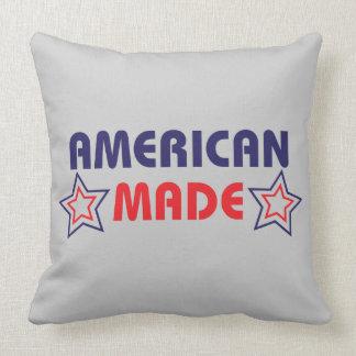 American Made Grey Throw Pillow