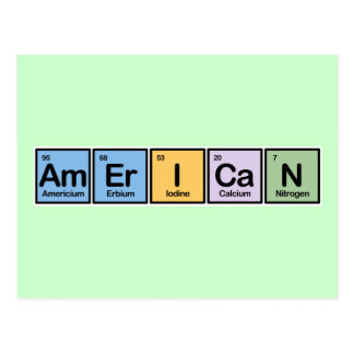 American made of Elements Postcard