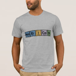 Men's Basic American Apparel T-Shirt with American design