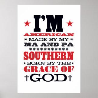 AMERICAN MADE SOUTHERN BORN PRINT