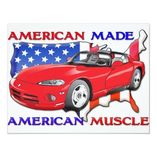 American Made Sports Car Card | Zazzle