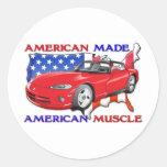 American Made Sports Car Sticker