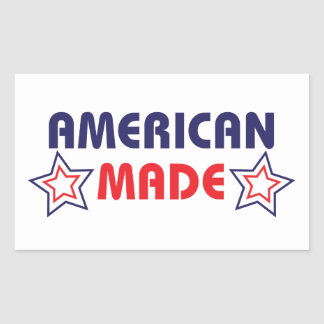 American Made Rectangle Stickers