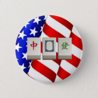 """American"" Mah Jongg Button"