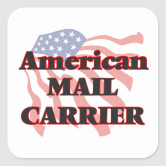 American Mail Carrier Square Sticker