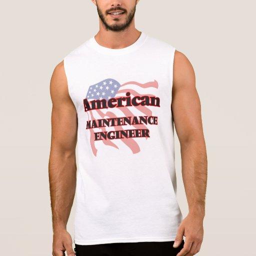 American Maintenance Engineer Sleeveless Shirt Tank Tops, Tanktops Shirts