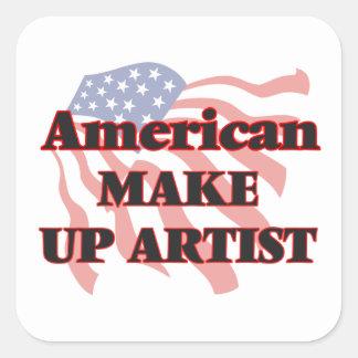 American Make Up Artist Square Sticker