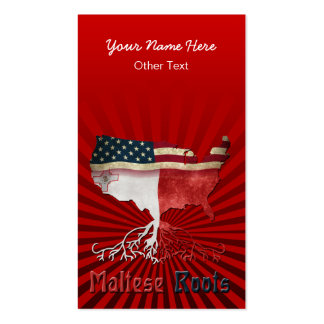 American Maltese Roots Custom Business Cards
