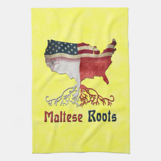 American Maltese Roots Tea Towel