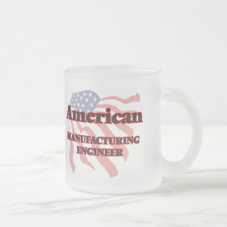 American Manufacturing Engineer 10 Oz Frosted Glass Coffee Mug