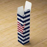American map flag | nautical stripes pattern wine box