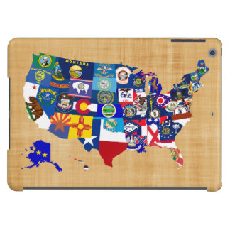 American Map State Flags Mosaic Case For iPad Air