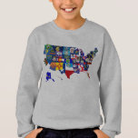 American Map State Flags Mosaic Sweatshirt