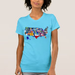 American Map State Flags Mosaic Tee