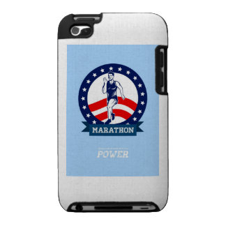 American Marathon Runner Power Poster Cases For The iPod Touch