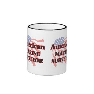 American Marine Surveyor Ringer Coffee Mug
