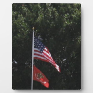 American Marines Flag Photo Plaques