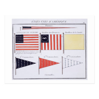 American Maritime Flags and Pennants, from a Frenc Postcard