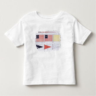 American Maritime Flags and Pennants, from a Frenc Toddler T-shirt