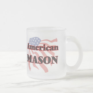 American Mason 10 Oz Frosted Glass Coffee Mug