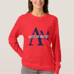 American Mastiff Breed Monogram T-Shirt
