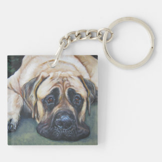 American Mastiff Fine Art Painting Keychain
