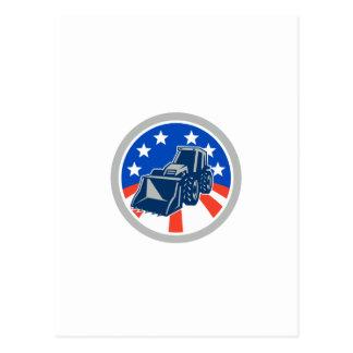 American Mechanical Digger Excavator Circle Postcard