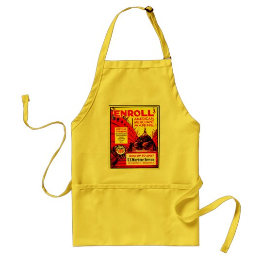 American Merchant Marine-Enroll Today Adult Apron