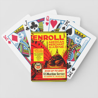 American Merchant Marine-Enroll Today Bicycle Playing Cards