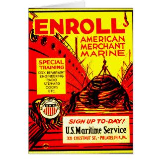 American Merchant Marine-Enroll Today Card