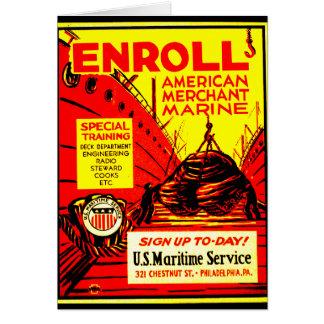 American Merchant Marine - Enroll Today ! Card