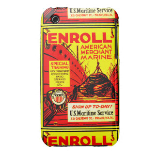 American Merchant Marine-Enroll Today Case-Mate iPhone 3 Case