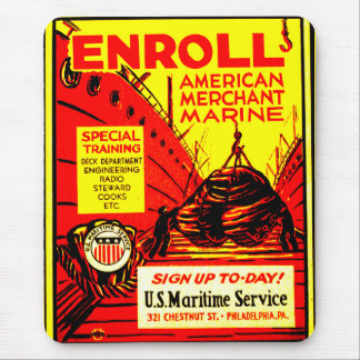 American Merchant Marine-Enroll Today Mouse Pad