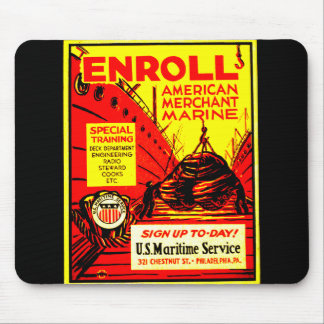 American Merchant Marine - Enroll Today ! Mouse Pad