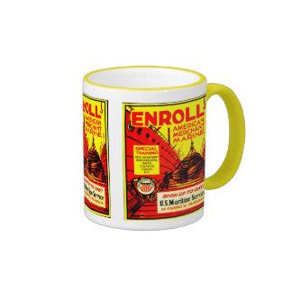 American Merchant Marine - Enroll Today ! Ringer Mug