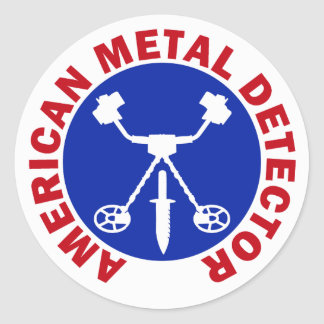 American Metal Detector Classic Round Sticker